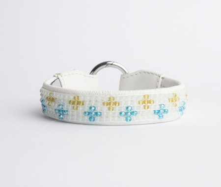 Cross Choker - Santig Cream