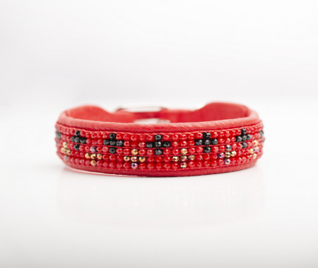 Fine Leather Collars -Red Cross