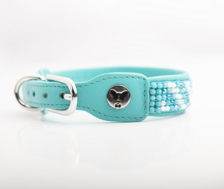 Fine Leather Collars -White Sky