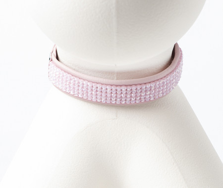 Fine Leather Collars -Soft Pink