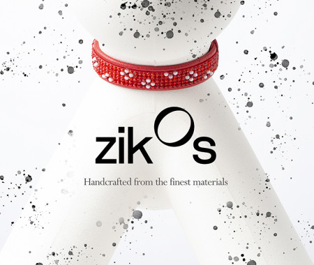 Fine Leather Collars - Red Flower