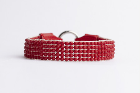 Flou Necklace - Μatte Red
