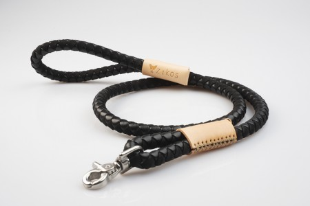 Total Black & Natural Leather Lead