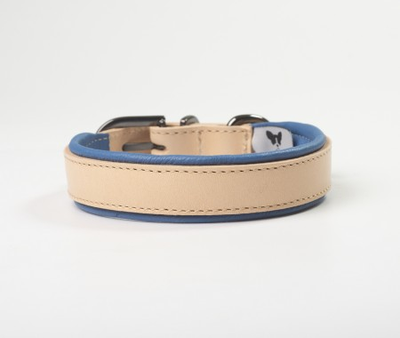 Total Leather Collar - Blue