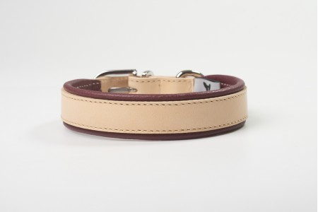Total Leather Collar - Bordeaux