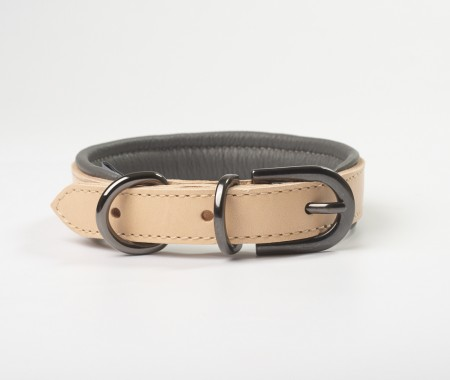 Total Leather Collar - Dark Grey