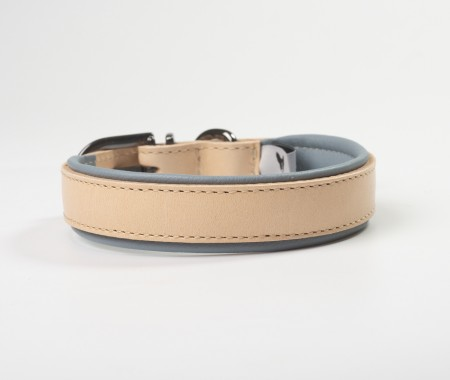 Total Leather Collar - Grey