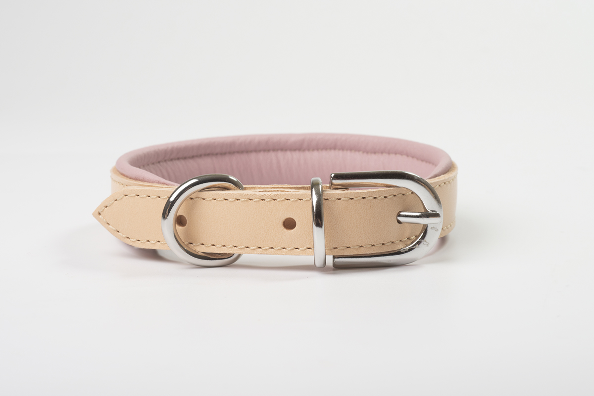 Total Leather Collar - Pink