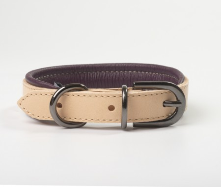 Total Leather Collar - Purple