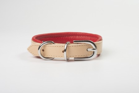 Total Leather Collar - Red