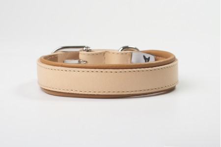 Total Leather Collar - Tabac