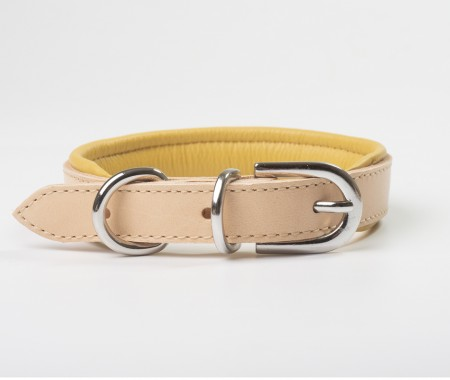 Total Leather Collar - Yellow